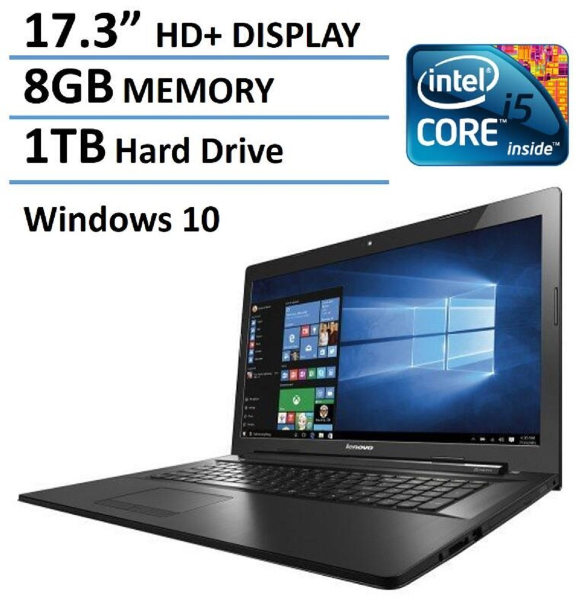 2016 newest lenovo 17 inch high performance premium laptop intel core i5 5200u processor up to. Black Bedroom Furniture Sets. Home Design Ideas